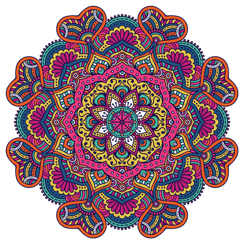 Multi Colour Mandala Design Sticker Car,Van, Fridge, Laptop, Wall Art Decal