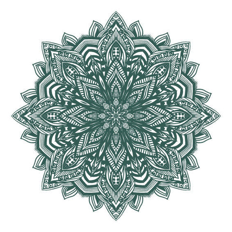 New Green Mandala Design Sticker Decor Car, Van, Fridge, Laptop, Wall Art Decal