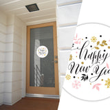 Happy New Year Vinyl Sticker | Laptop, Window, Car Decals | Christmas Gift