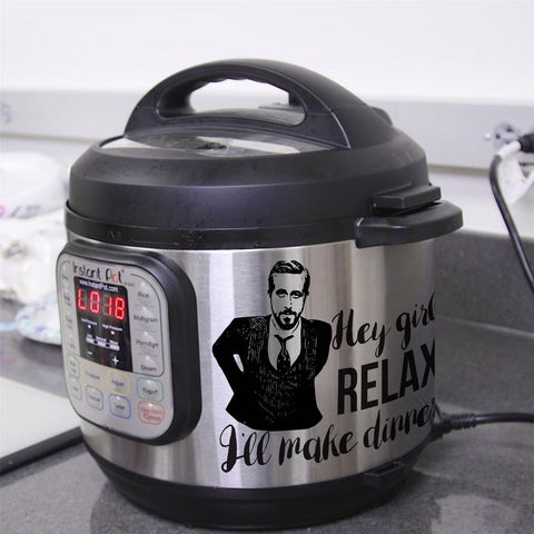 Instant Pot stickers - I'll make dinner Ryan Gosling - kitchen stickers - Cooker stickers - Influent UK