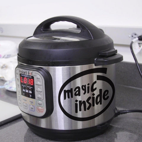 Slow cooker stickers – Magic inside – kitchen stickers – Cooker stickers