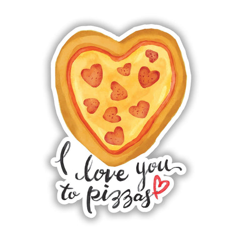 Pizza Love Valentines Love Gift Wall art Vinyl Sticker, Laptop Decal, Window