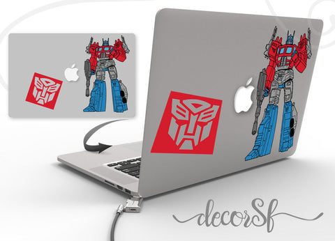 Transformers Macbook wrap cover - cover for macbook Optimus - macbook decals
