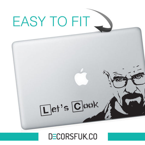 Heisenberg Macbook Stickers on black vinyl | Laptop stickers | Breaking Bad - Influent UK