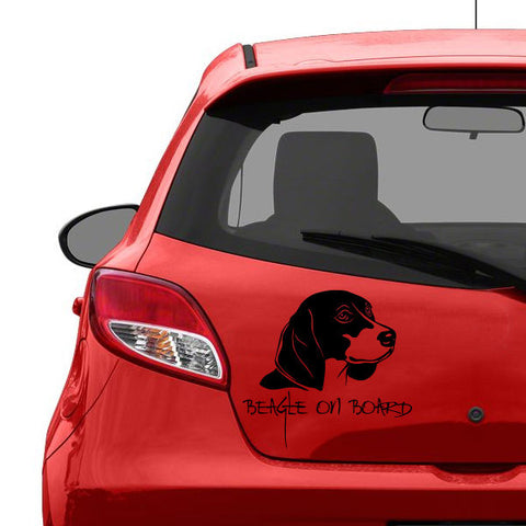 Black beagle Vinyl Car Decal Sticker, Pets Car Bumper, Window | Car stickers