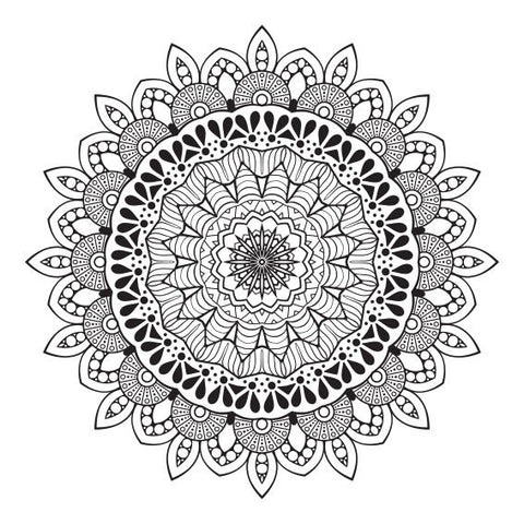 Black Oriental Mandala Design Sticker Decor Car, Fridge, Laptop, Wall Art Decal - Influent UK