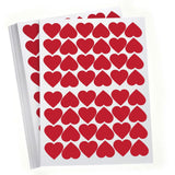 48 red hearts / red vinyl / red hearts valentines day - Influent UK