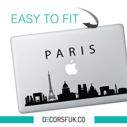 Paris Macbook Stickers on black vinyl | Laptop stickers | City stickers