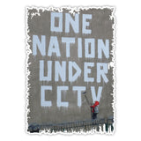 Banksy Nation under CCTV Graffiti Wall art Vinyl Sticker, Laptop, Fridge Decal - Influent UK