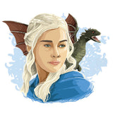 Daenerys Targaryen Game of Thrones Sticker, Car, Laptop, Phone, Wall Art Decal - Influent UK