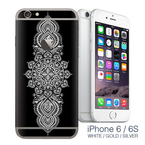 iPhone 6 White Mandala - mandala stickers - iphone 6 sticker / iphone 6 decals - Influent UK