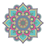 New Floral Mandala Design Sticker Decor Car, Van, Fridge, Laptop, Wall Art Decal