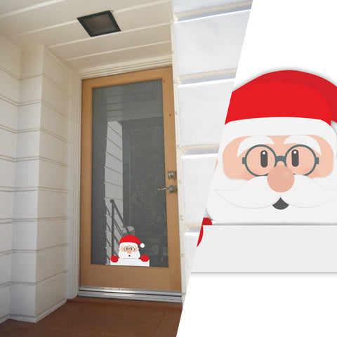 Father Christmas Decorative Stickers, Window, wall, Car Decals Christmas Gift - Influent UK