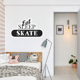 Eat, sleep, skate Vinyl Stickers | Wall Art Window, Car, Laptop Macbook Decal - Influent UK
