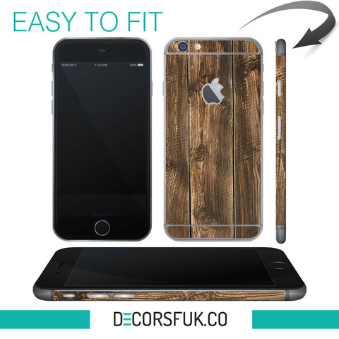 Brown Wood iPhone 6 wrap skin - iphone skins - covers for iphone - Influent UK