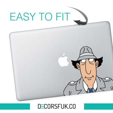 Inspector Gadget Macbook Stickers on vinyl | Laptop stickers | Macbook Decals