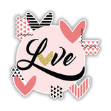 Love with Geometrics | Love Vinyl Stickers | Wall Art Window, Car, Laptop Decal - Influent UK