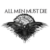 All men must die Game of Thrones Sticker, Car, Laptop, Phone, Wall Art Decal - Influent UK