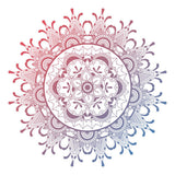 New Shiny Mandala Design Vinyl Sticker Decor Car, Fridge, Laptop, Wall Art Decal