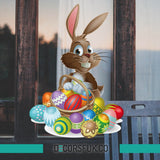 Easter Bunny - Easter windows stickers - Easter stickers - easter eggs stickers - Influent UK