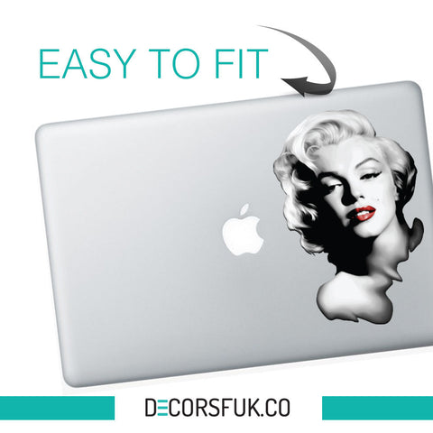 Marilyn Monroe Macbook Sticker black vinyl | Macbook Decal - Marilyn decals - Influent UK