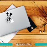 Mickey Mouse Macbook Stickers on black vinyl | Laptop stickers | Macbook Decals - Influent UK