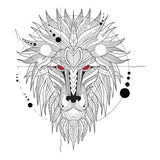 Geometrical Lion Mandala Design Sticker Decor Car, Fridge, Laptop Wall Art Decal - Influent UK