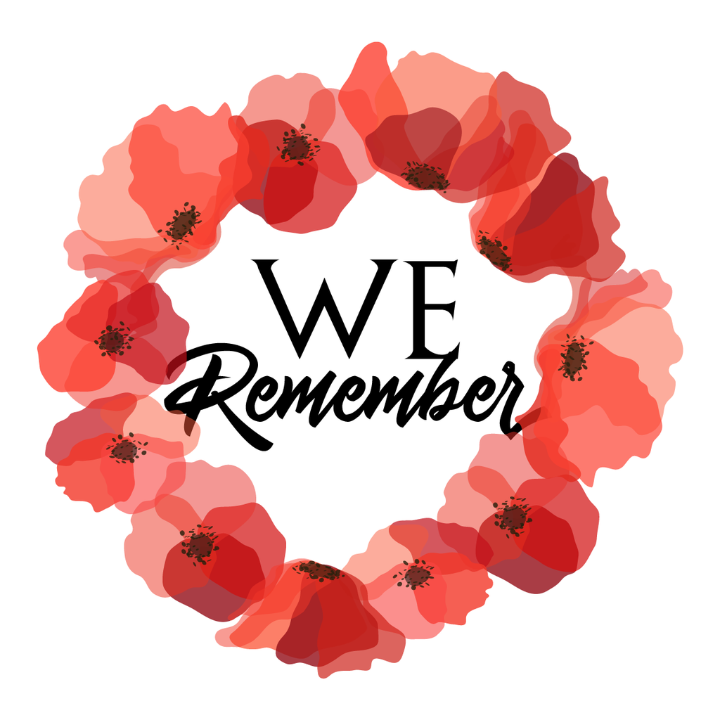 Lest we forget remembrance day sticker poppy flower decal car window fridge