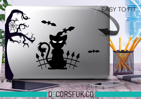 Cats & Bats Macbook Stickers on vinyl | Laptop sticker | Macbook Decal sticker - Influent UK