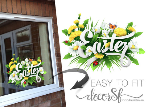 Happy Easter - Easter stickers - Easter window decal - decal for easter 30x22 cm