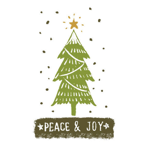 Peace and Joy Merry Christmas Vinyl Sticker, Phone Sticker, Laptop Decal, Window