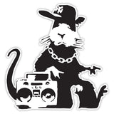 Banksy Rat Ghetto Graffiti Wall art Design Vinyl Sticker, Laptop Decal, Window - Influent UK