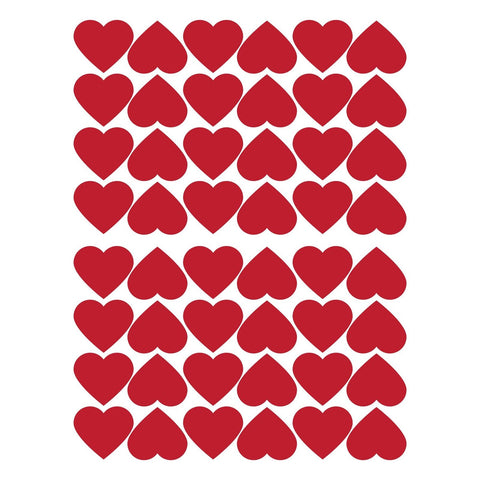 48 red hearts / red vinyl / red hearts valentines day