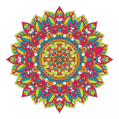 Colourful Mandala Design Sticker Decor Car, Van, Fridge, Laptop, Wall Art Decal