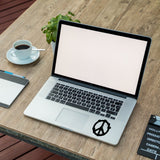 Peace Symbol Vinyl Sticker | Wall Art Window, Car, Van, Laptop Macbook on black