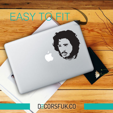 Jon Snow Game of Thrones Macbook Stickers black vinyl | Macbook Decal - movie