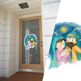 Jesus, Mary and Joseph Decorative Stickers, Laptop, Window, Car Decals Christmas - Influent UK
