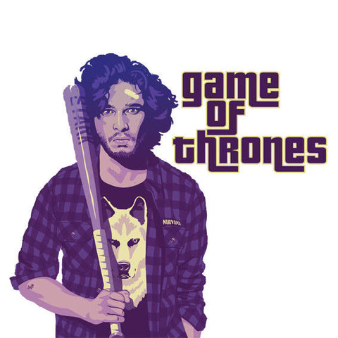 Bad Boy John Snow Game of Thrones Sticker, Car, Laptop, Phone, Wall Art Decal