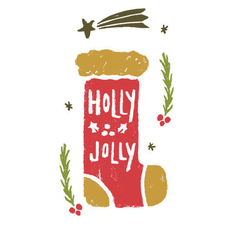 Holly Jolly Christmas Decor Vinyl Sticker, Phone Sticker, Laptop Decal, Window - Influent UK