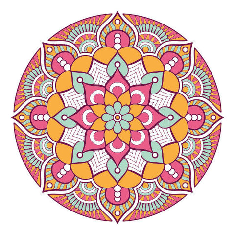 New Boho Mandala Design Sticker Decor Car, Van, Fridge, Laptop, Wall Art Decal