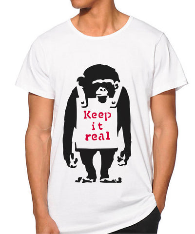 Banksy Keep it real monkey T-shirt
