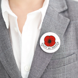 Lest we forget Simple Poppy Badge - 38 mm button pin badge - Remembrance day