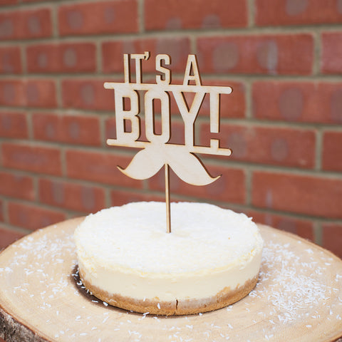 Baby Shower Cake Topper Laser Cut Design It's a boy or It's a Girl ply Wood