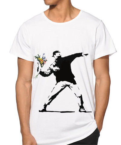 Banksy Rage flower Thrower T-shirt