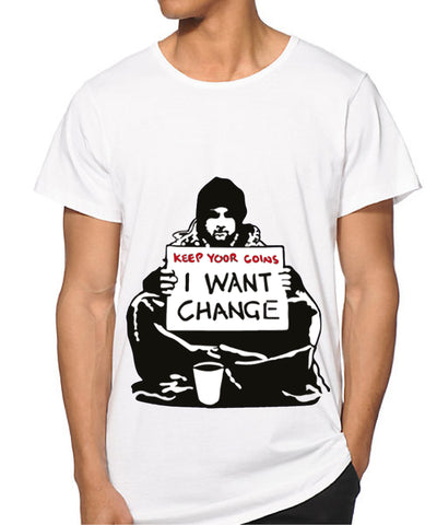 MEN Banksy I want Change T-shirt