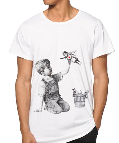 Banksy NHS Superhero support T-shirt
