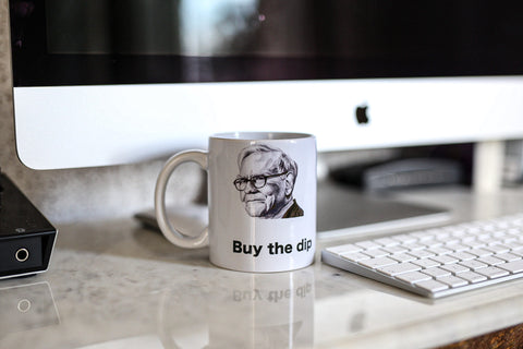Buy the Dip 11oz Mug WB Mug - Warren Buffett buy the dip