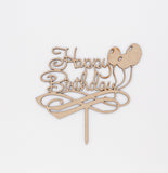 Laser cut Cake toppers - collection of Happy Birthday Cake Toppers