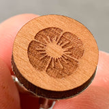 Lest we Forget Wooden Cufflinks/Remembrance Day/Laser Cut Cufflinks - Cherry Wood - Influent UK