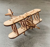 Lest we forget - Laser cut Wooden Airplane Remembrance day Armistice day RAF